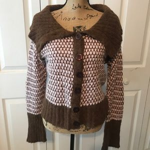 Free People cowl neck sweater size L